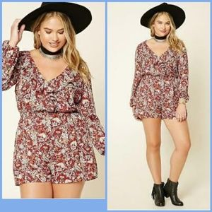 Paisley and Floral  Forever 21 Romper 3x